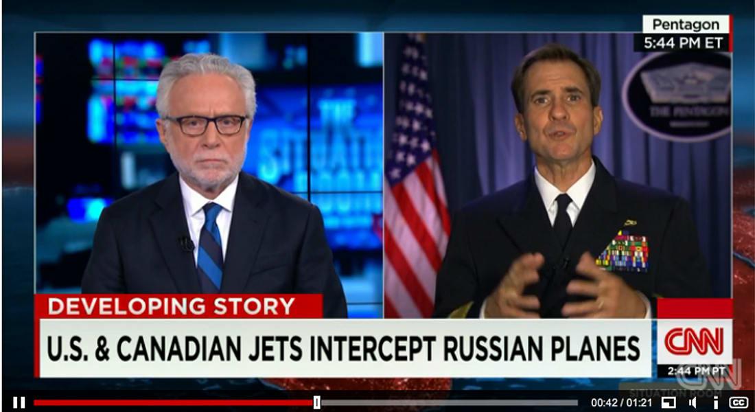 اعتراض طائرات روسية قرب المجالين الجويين لأمريكا وكندا