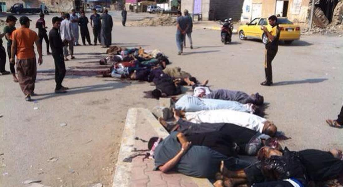 """داعش يعدم 45 رجلا من قبيلة """"البو نمر"""" ممن انضموا لجماعات الصحوة بالأنبار"""