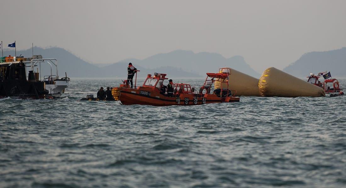 """185 قتيلا و117 مفقودا بحادث عبارة """"الموت"""" الكورية الجنوبية"""