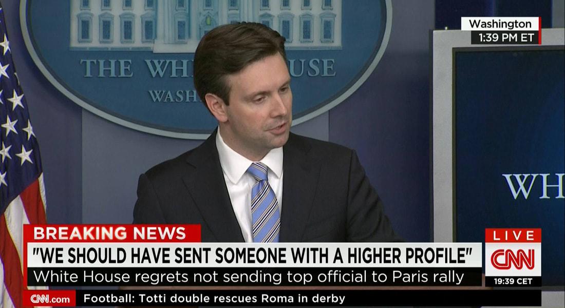 البيت الأبيض: كان علينا إرسال شخصية رسمية أعلى لمسيرة شارلي بباريس