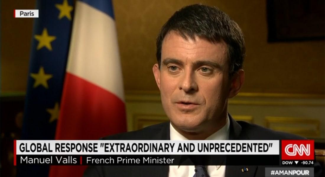 رئيس الوزراء الفرنسي لـCNN: بدون اليهود فرنسا ليست فرنسا وغالبية المسلمين تدين أحداث شارلي إيبدو