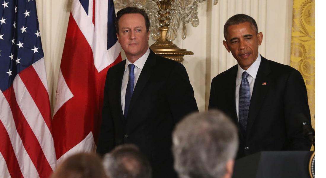 أوباما يتعهد مع كاميرون بمساعدة فرنسا ومحاربة الإرهاب ويعلن إجهاض خطة للكونغرس بشأن إيران