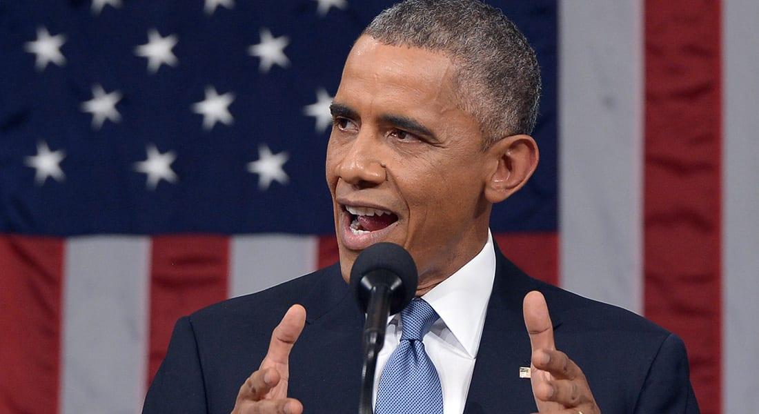 """أوباما في خطاب """"حالة الاتحاد"""": أي عقوبات على إيران ستعيق الحل الدبلوماسي والوقت قد حان لإغلاق """"غوانتنامو"""""""