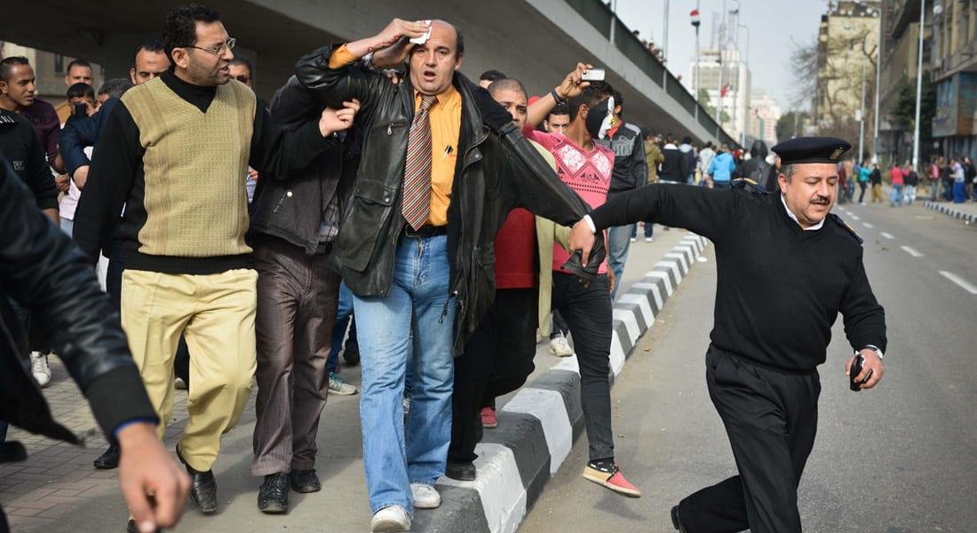 الداخلية المصرية: إصابة 11 عنصرا بالأمن في اشتباكات ذكرى ثورة 25 يناير واعتقال 150 من مثيري الشغب
