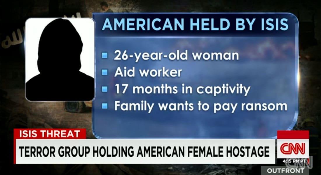 هذا ما نعلمه عن عاملة الإغاثة الأمريكية المحتجزة لدى داعش.. والعائلة تريد دفع فدية