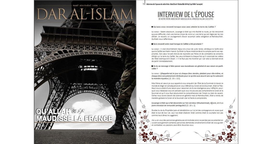 """مجلة تابعة لـ""""داعش"""": حياة بومدين وصلت بسلام إلى """"دولة الخلافة الإسلامية"""""""