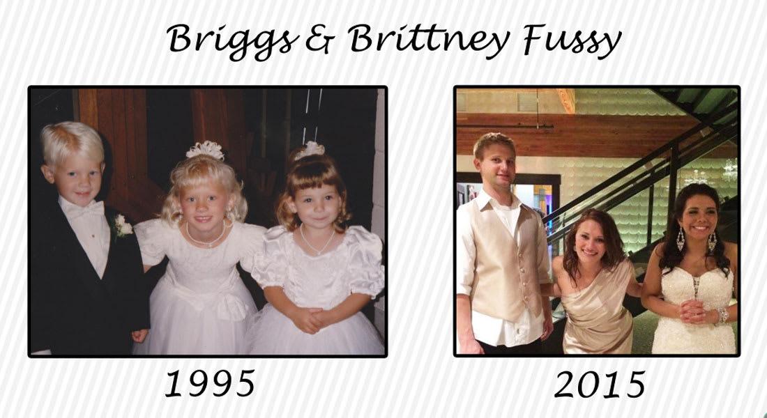 رافقا عروساً وعريساً بحفل زفاف بعمر الثالثة ليتزوجا بعد 20 عاماً