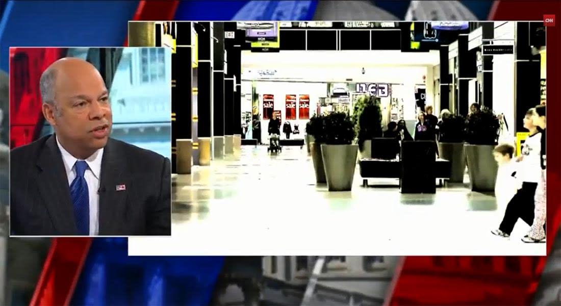 وزير الأمن القومي الأمريكي يدعو مواطنيه عبر CNN لتوخي الحذر بشكل خاص عند الذهاب لمركز أمريكا التجاري