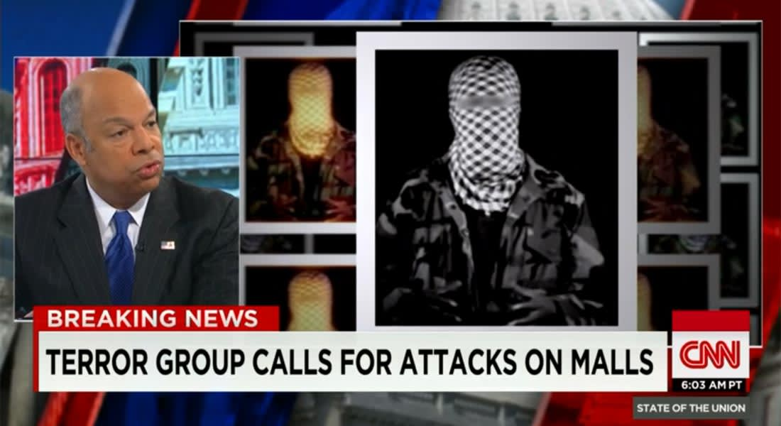 """وزير الأمن القومي الأمريكي لـCNN: تنافس بين المنظمات الإرهابية للفت الانتباه.. وتهديد """"الشباب"""" يعكس المرحلة الجديدة التي دخلناها"""