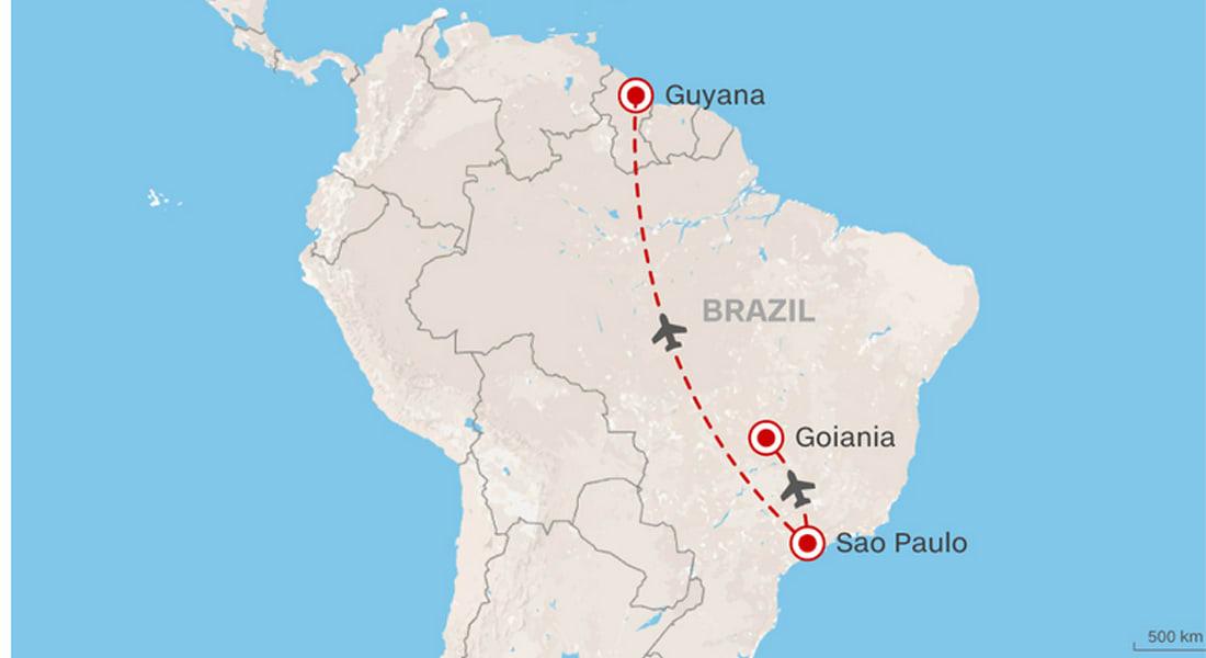 وجهته هي غايانا ووجد نفسه في غويانيا البرازيلية.. مطبات تشابه الأسماء وأخطاء شركات الطيران