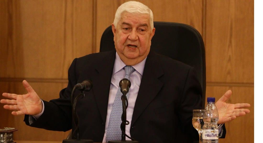 المعلم: الإرهاب المدعوم من الغرب وبعض الدول العربية لا يميز بين سوري وفلسطيني