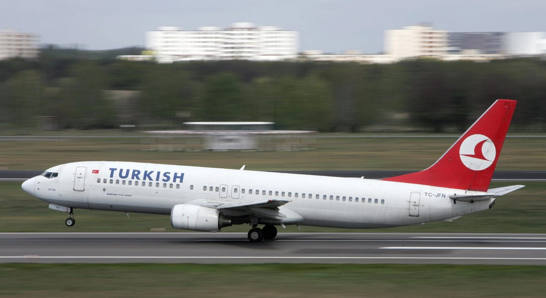 """هبوط اضطراري لرحلة الخطوط التركية بعد العثور على ملاحظة كتب فيها """"قنبلة"""" في المرحاض"""