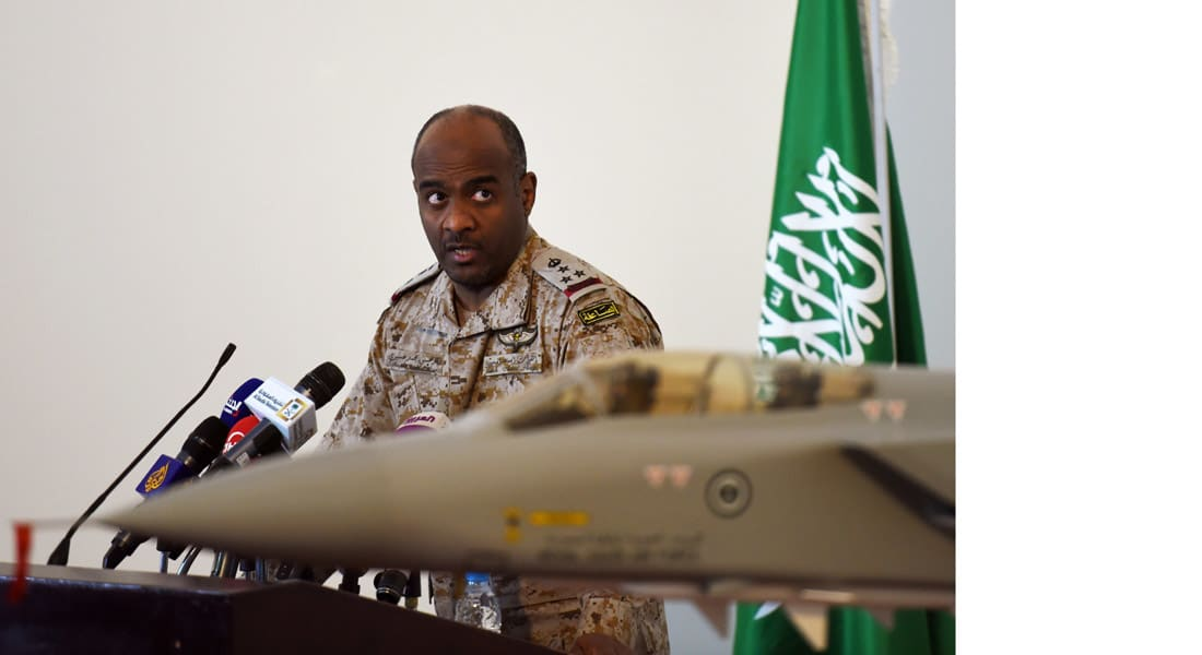"""عسيري: الحوثيون يستدرجون """"عاصفة الحزم"""" للمناطق السكنية.. دمرنا صواريخ بالستية ونحمي عدن ونحاصر الموانئ"""