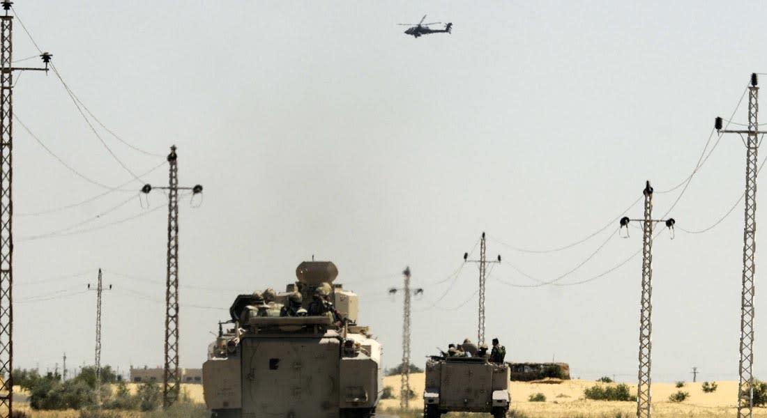 """جيش مصر يؤكد مقتل 35 """"إرهابياً"""" وارتفاع ضحايا هجوم سيناء إلى 16 """"شهيداً"""""""