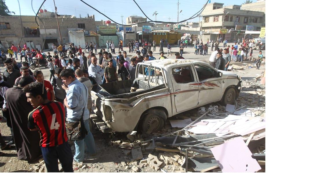 """العراق: مقتل 8 في تفجيرين أحدها انتحاري استهدف تجمعا لـ""""الحشد الشعبي"""""""