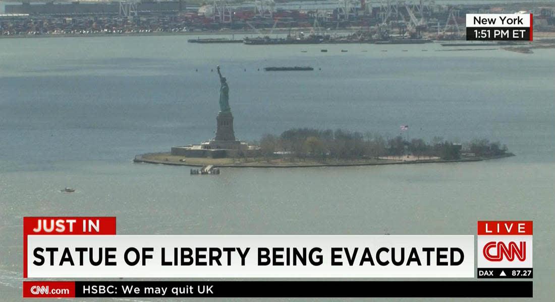 مسؤول أمني: إخلاء تمثال الحرية في نيويورك بعد مكالمة هاتفية تهدد بوجود قنبلة