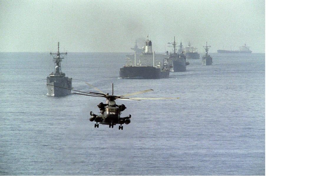 البحرية الأمريكية ترافق السفن التجارية بالخليج خوفا من تحرش الحرس الثوري