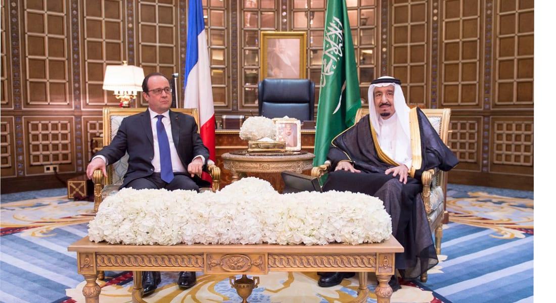قمة فرنسية سعودية بالرياض .. يعقبها إعفاء الملك لرئيس المراسم  ولقائين لهولاند مع هادي والجربا