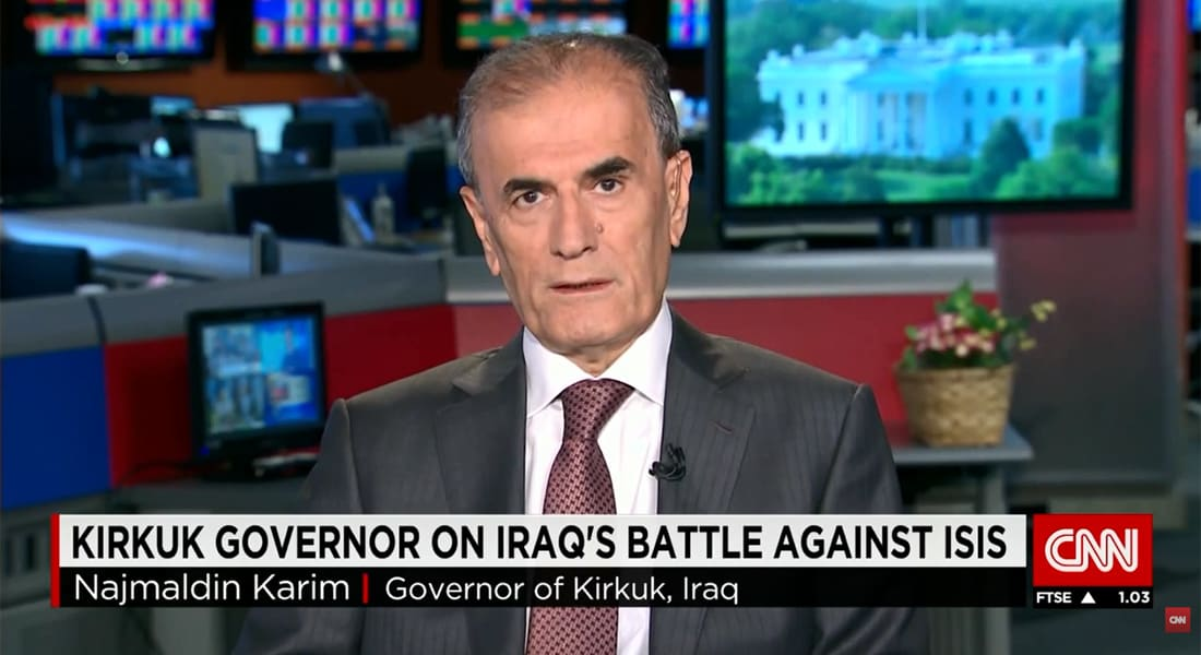 محافظ كركوك لـCNN: داعش ليس مجنونا وقياديوه أعضاء سابقون بحزب البعث ينفذون أوامر أعطاها صدام حسين بـ2002