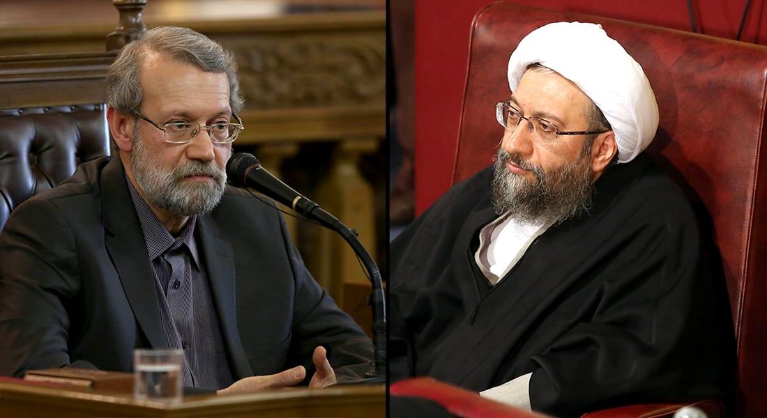 """آل لاريجاني بهجوم """"ديني"""" على السعودية: علي يشببهها بـ""""بني أمية"""" وصادق يعتبر """"الجاهلية"""" أفضل منها"""