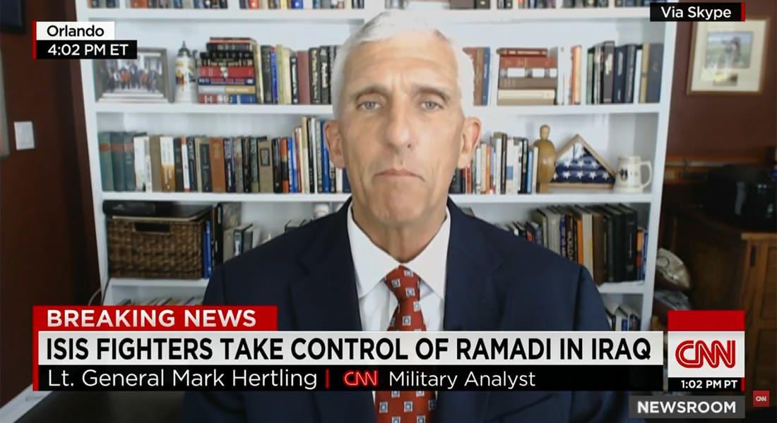 هارتلينغ لـCNN: سمعنا عن سقوط الرمادي مرارا.. القتال سيستمر والوضع أشبه بما جرى في كوباني