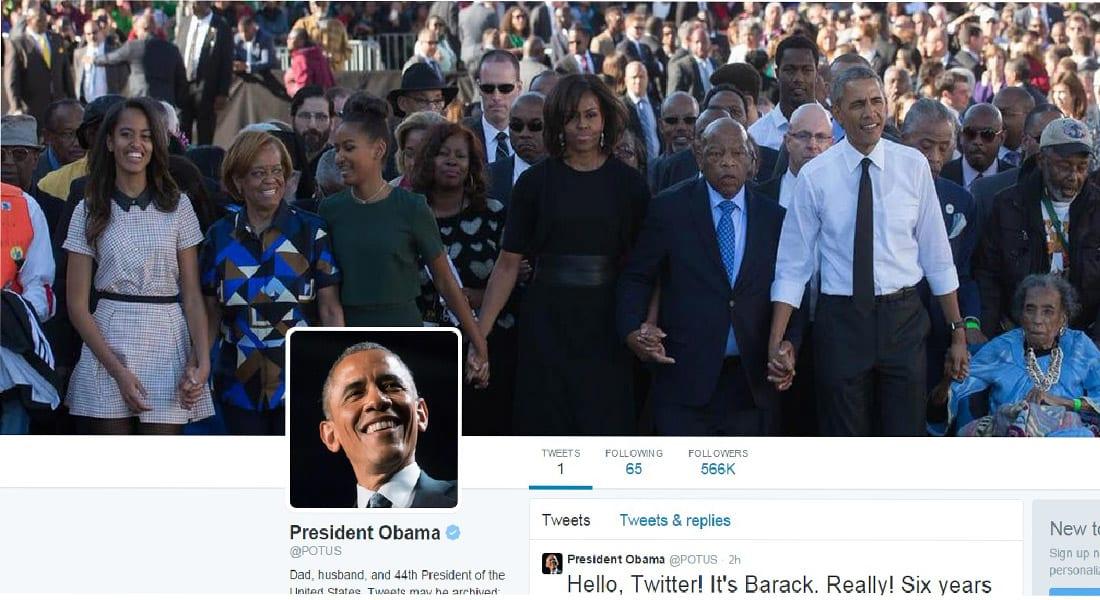 أخيرا .. @POTUS جعل باراك أوباما يغرد بنفسه