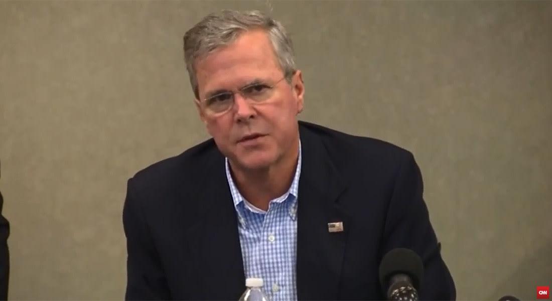 جيب المرشح لرئاسة أمريكا 2016: داعش لم يتواجد عندما كان شقيقي جورج بوش رئيسا.. وأوباما تخلى عن العراق