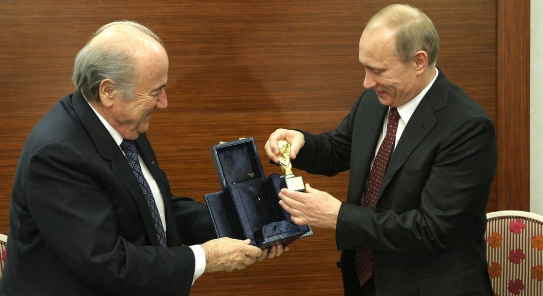 لندن تنتقد الفيفا وسويسرا تباشر التحقيق مع وزير روسي وبوتين يهاجم أمريكا: تضغط على بلاتر لسحب كأس العالم منا