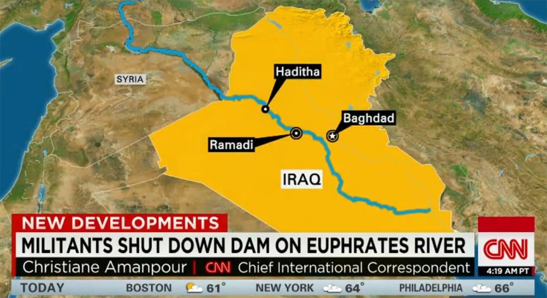 آمانبور تفسر لـCNN كيف يستخدم داعش الماء في سد الرمادي كسلاح: لا نعلم ما ينوي بالضبط وهناك احتمالان