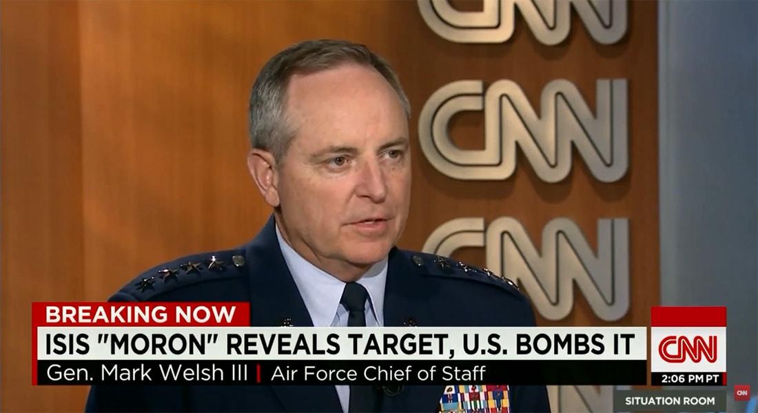 قائد سلاح الجو الأمريكي لـCNN: لا نعلم من أين أتت أرقام مقتل 10 آلاف عنصر بداعش.. والتنظيم لا زال مؤثرا