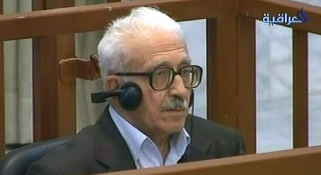 """جثمان طارق عزيز في طريقه الآن للأردن متأخراً 24 ساعة بعد أنباء """"اختطافه"""" بمطار بغداد"""