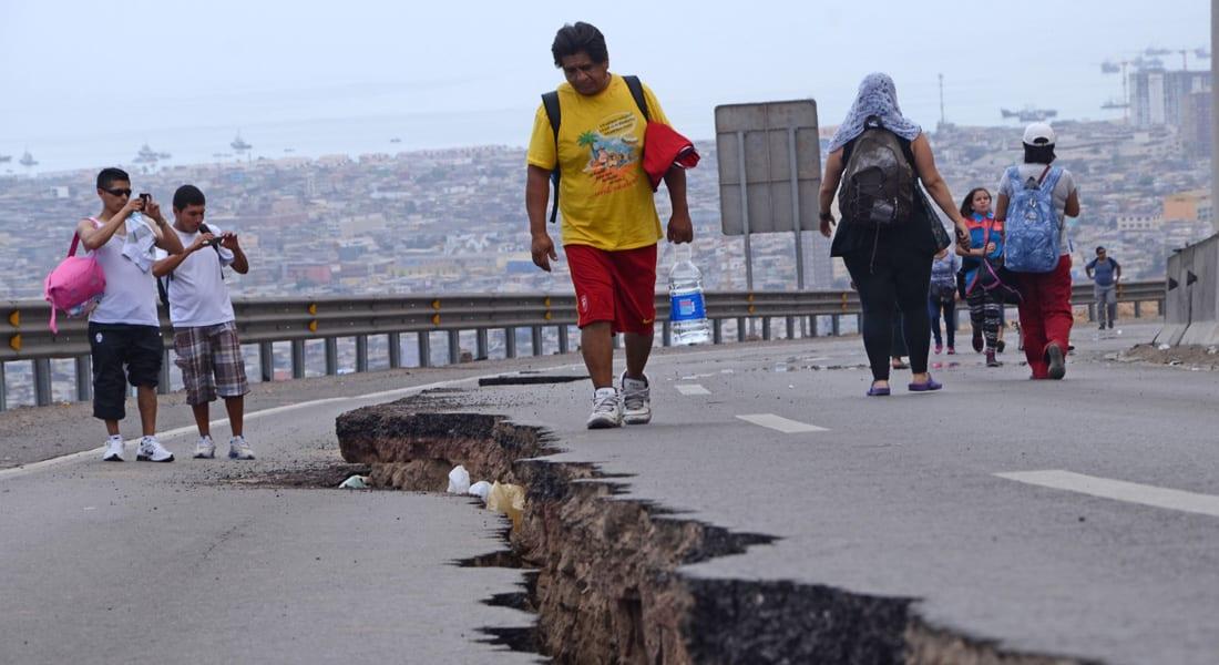 """زلزال بقوة 6.4 ريختر يضرب غرب تشيلي ولا تحذير من """"تسونامي"""""""