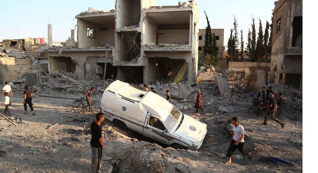 11324 برميلا متفجراً ألقاها نظام الأسد على المدن السورية في 8 شهور قتلت 3602 مدنيا