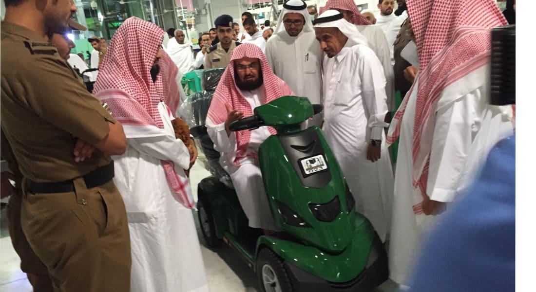 دشنها الشيخ السديس.. لأول مرة عربات كهربائية لخدمة الحجاج والمعتمرين في المسجد الحرام