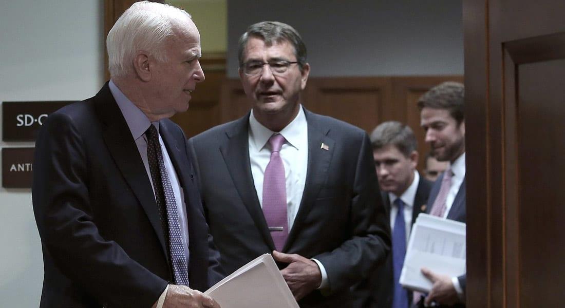 """إدارة أوباما تقر بتدريب 1% فقط من العدد المستهدف في المعارضة السورية.. و""""ماكين"""": لن يحقق هدف إضعاف أو تدمير """"داعش"""""""