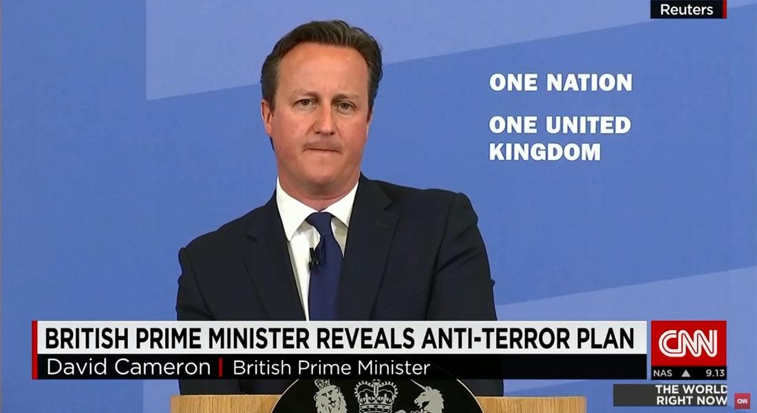 رئيس وزراء بريطانيا حول الإرهاب: من يقول إن العنف بلندن غير مبرر ولكن التفجيرات الانتحارية بإسرائيل أمر مختلف هو جزء من المشكلة