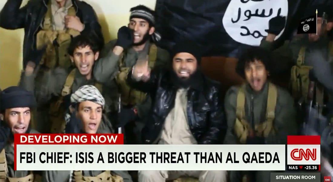 لماذا داعش بهذه القوة؟.. مدير الـFBI لـCNN: التنظيم تبنى نموذجا جديدا.. ورسائله المشفرة يصعب اقتفائها