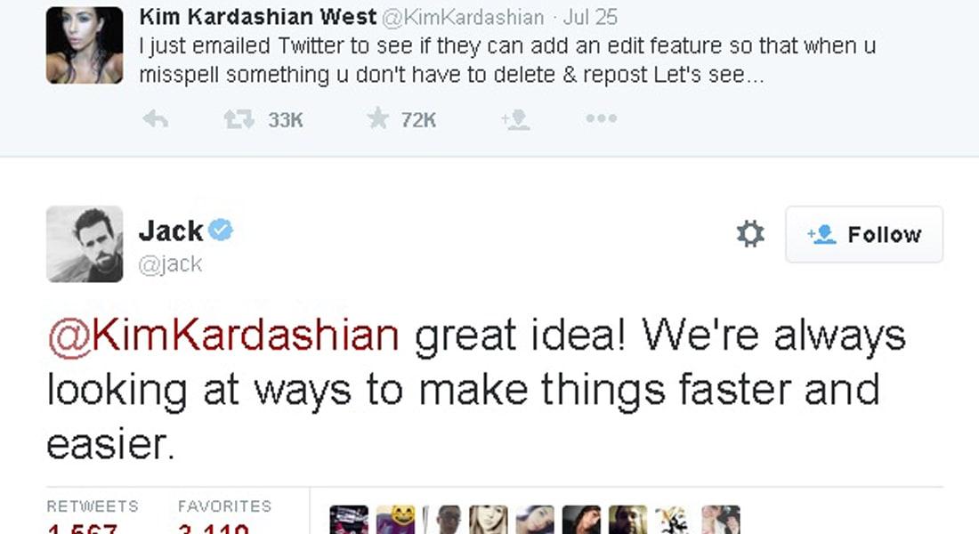 """قريباً قد تتمكن من تعديل تغريداتك في تويتر.. والفضل يعود لـ """"كرداشيان"""""""