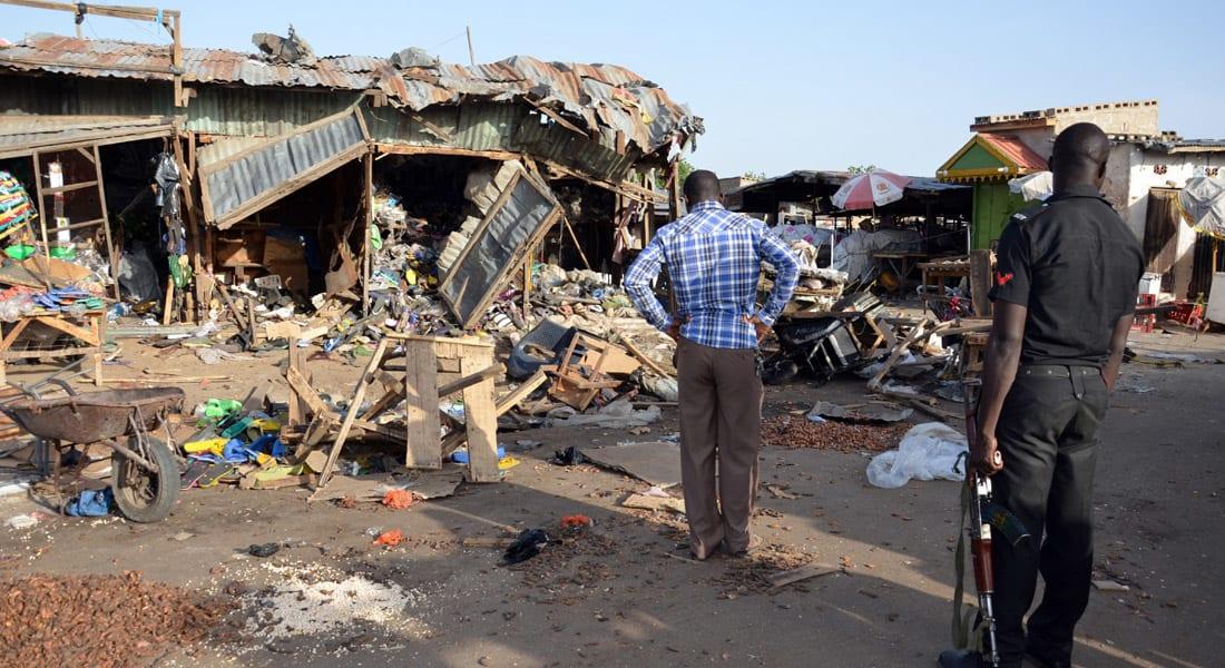 """نيجيريا.. 14 قتيلاً و47 جريحاً بتفجير """"انتحارية مختلة"""" وسط سوق شعبية"""