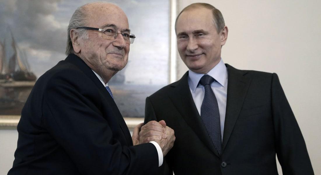 """بوتين بعد فضيحة """"فساد الفيفا"""": بلاتر يستحق جائزة نوبل"""