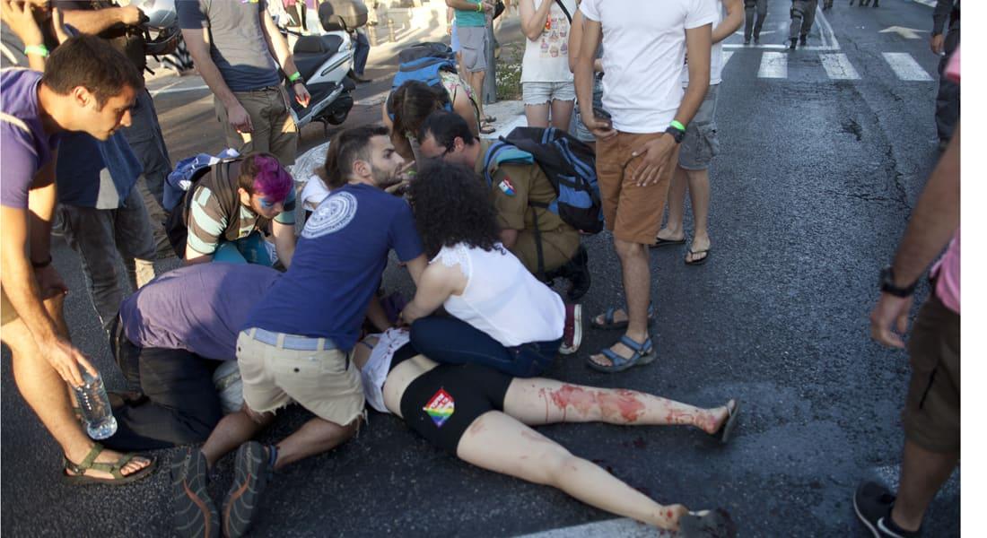 """طعن 4 مشاركين في مسيرة للمثليين بالقدس والشرطة تعتقل يهوديا وصف بـ""""المتشدد"""""""