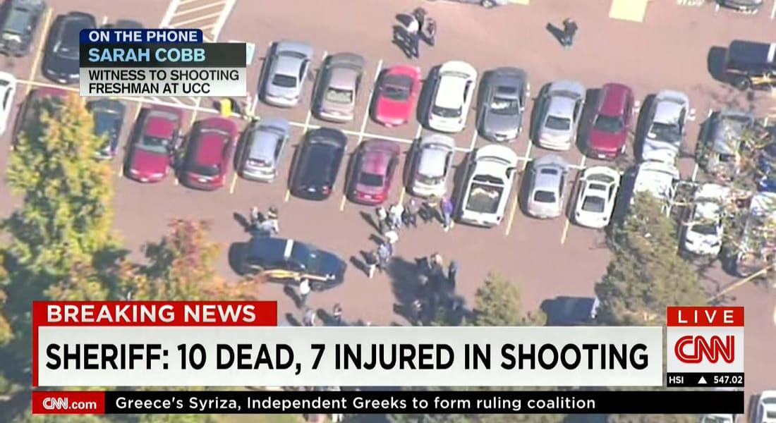 مصادر: منفذ هجوم جامعة اومبكوا وقاتل 10 أشخاص هو كريس ميرسر.. عمره 26 عاما.. وكان بحوزته درع وكميات ذخيرة هائلة