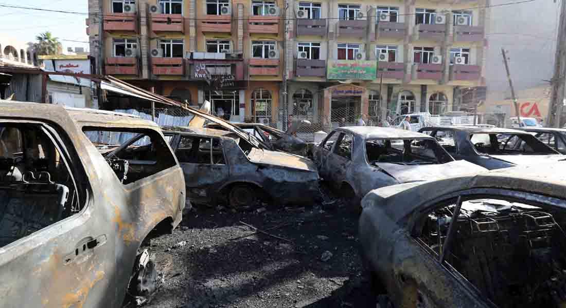 """العراق.. """"داعش"""" يتبنى تفجيرات أوقعت 24 قتيلاً بمنطقة للشيعة في بغداد ومقتل 43 """"داعشياً"""" بالأنبار"""