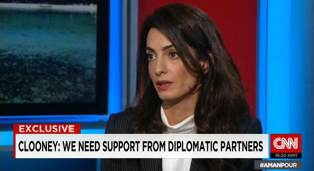 أمل كلوني لـCNN عن إطلاق سراح محمد فهمي: أعطانا أملا بأن الأمور يمكن أن تتغير في مصر