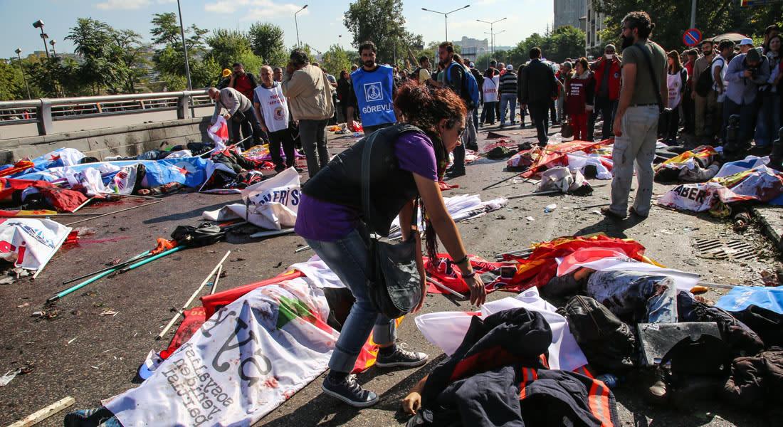 تركيا.. 97 قتيلاً في أكثر هجوم دموي بأنقرة وأوغلو يعلن الحداد لـ3 أيام