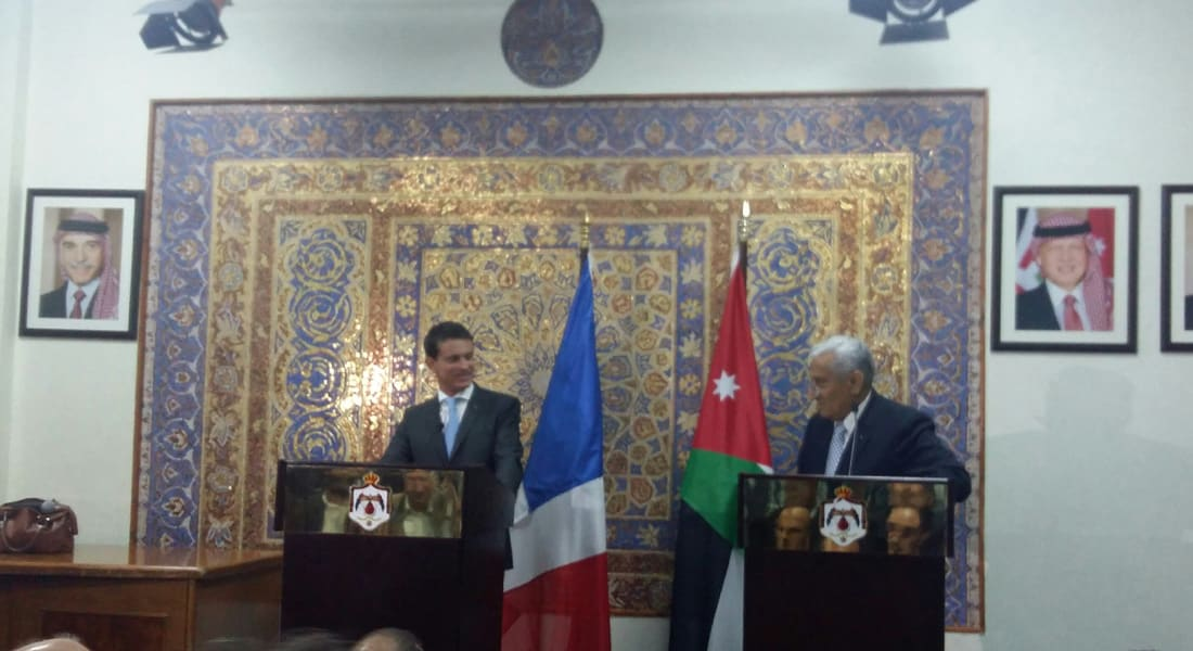 """رئيس وزراء فرنسا يكشف عن اتفاق عسكري جديد مع الأردن لمحاربة """"داعش"""""""