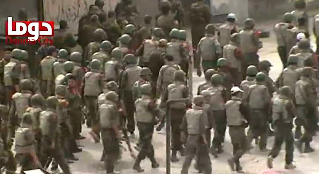 المرصد: مقتل 40 شخصا بهجوم صاروخي نفذته قوات النظام في دوما قرب دمشق
