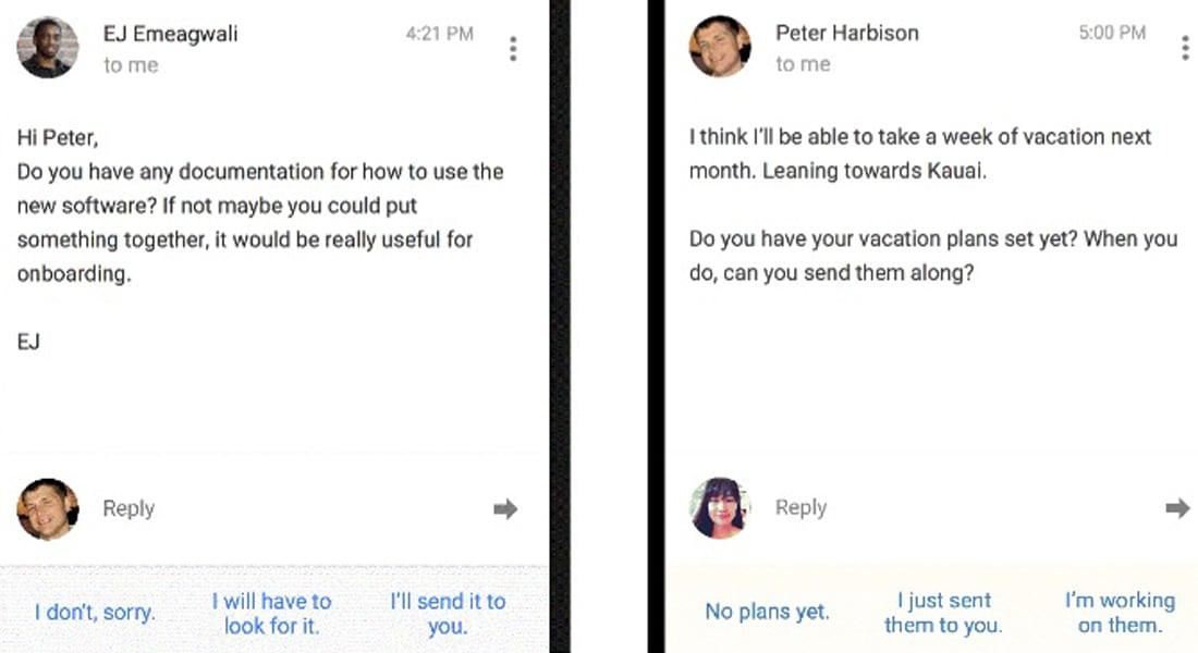 لا تجد الوقت للرد على الرسائل التي تتلقاها؟ جوجل الآن يمسح بريدك الإلكتروني ويقترح الردود!