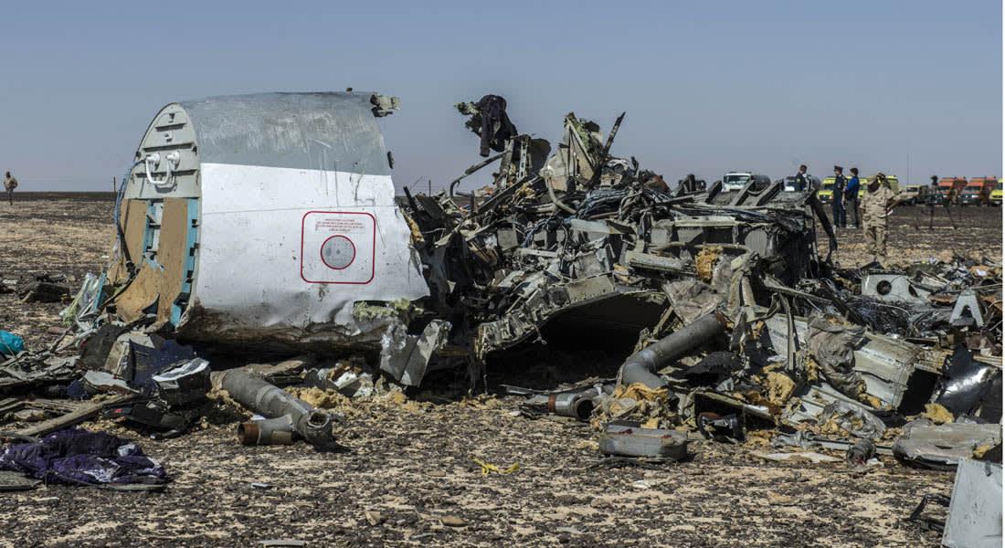 بوتين: فحص حطام الطائرة الروسية التي سقطت في سيناء وصل المرحلة الأخيرة