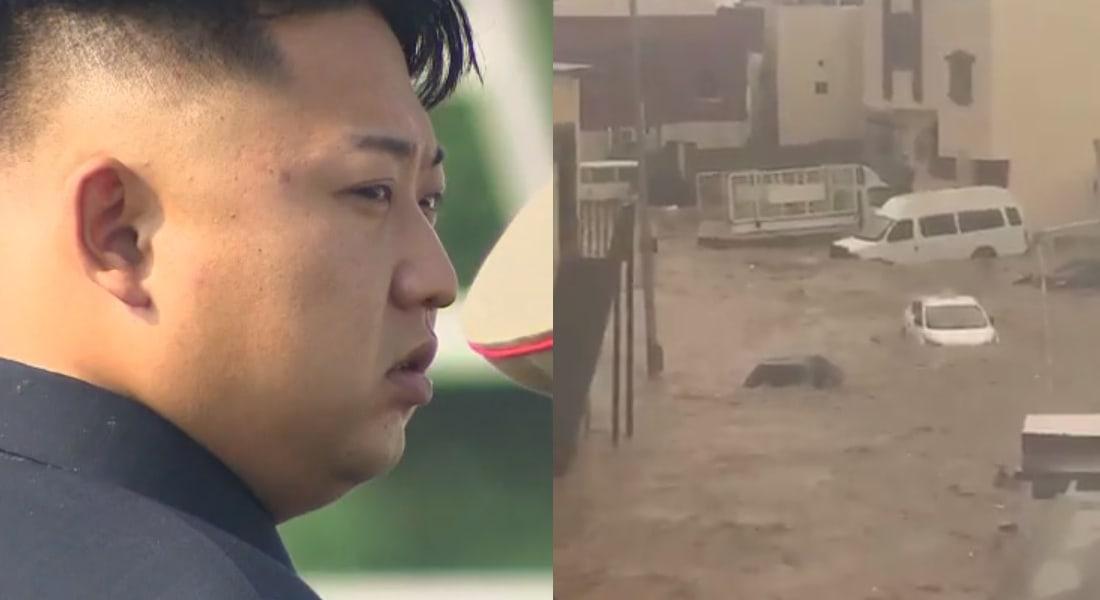 """جدة السعودية تغرق بالسيول.. ومغردون يطالبون بالزعيم الكوري """"كمراقب للمشاريع"""" بالمدينة"""
